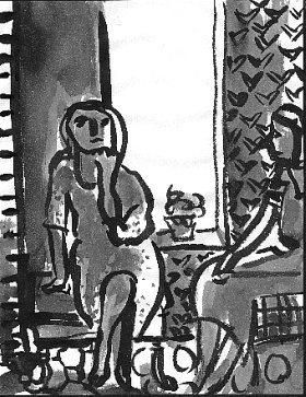 Tracy's Painting , 2001 Ink on paper 8.5 x 11 inches