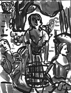 Backyard , 2000 Ink on paper 8.5 x 11 inches