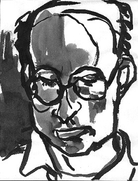 Tom Reading , 2001 Ink on paper 8.5 x 11 inches