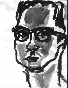 Tom G. , 2001 Ink on paper 8.5 x 11 inches