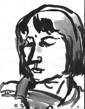Ronnie , 2001 Ink on paper 8.5 x 11 inches