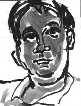 Jeff T. , 2000 Ink on paper 8.5 x 11 inches