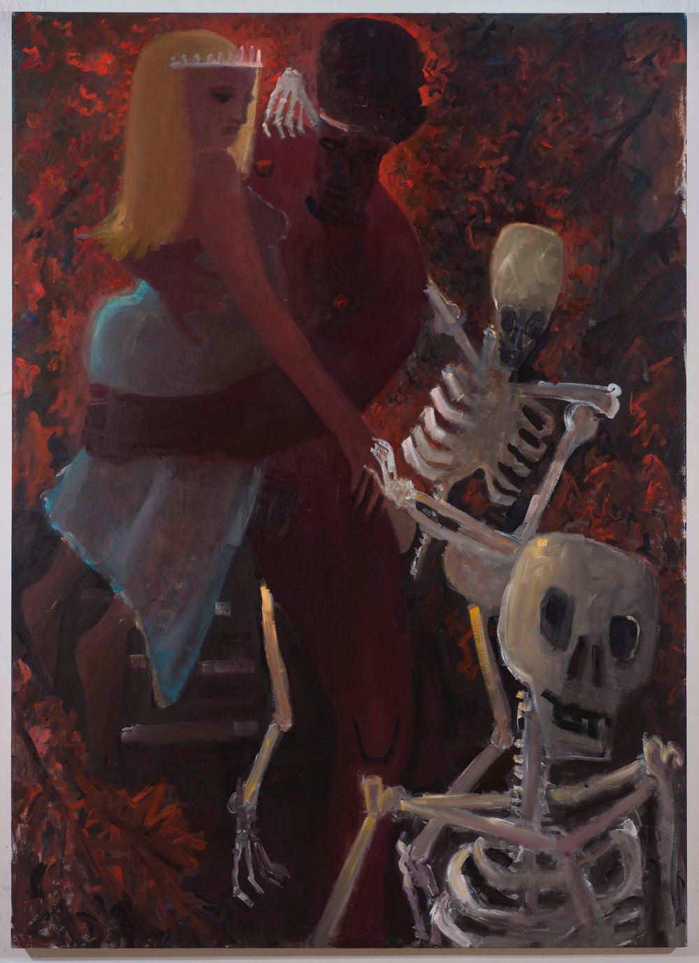Hades and Persephone , 2017 oil on canvas 56 x 64 in.