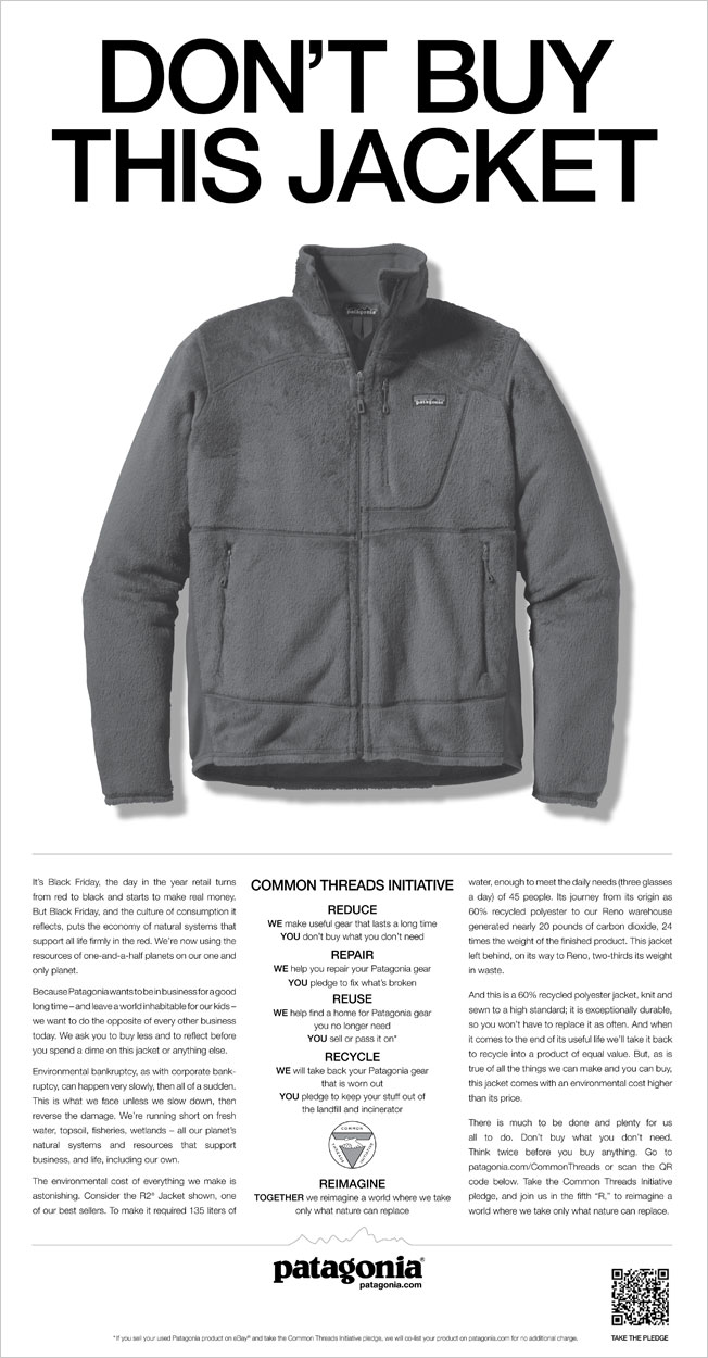 Full page print ad. The New York Times,November 25, 2011.