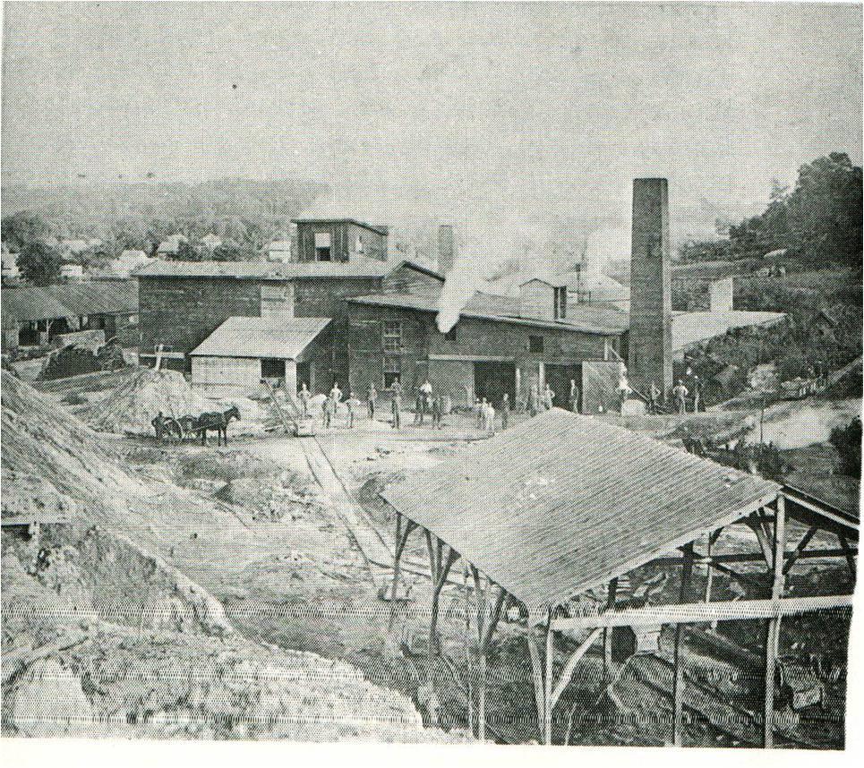 Van Meter Brick Factory near the old mine.