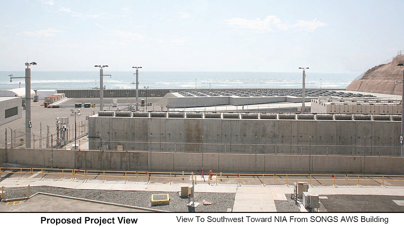 Proposed project view of the canisters that would contain the spent nuclear fuel.  PHOTO BY CHRISTOPHER MAUE