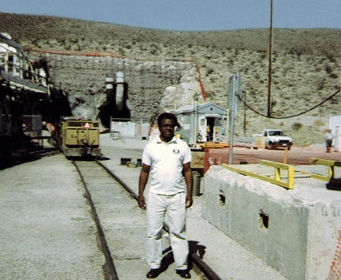 EHJ President Norris McDonald at Yucca Mountain in 2005.