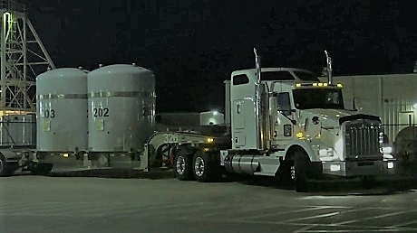 WIPP shared a video of the shipment's arrival (Image: WIPP)
