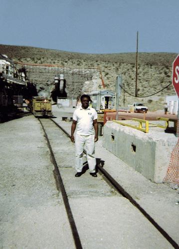EHJ President Norris McDonald at Yucca Mountain
