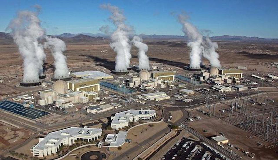 Palo Verde nuclear power plant.  Fifty miles west of Phoenix.  Three units at Palo Verde create about 36 percent of Arizona's electricity