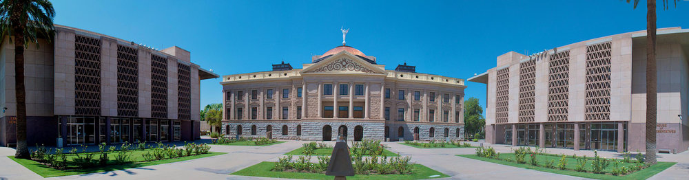 Arizona State Capitol Complex House on Right Senate on Left.jpg