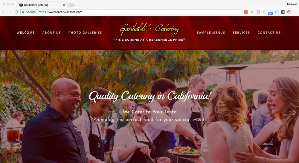 Garibaldi Catering  - cater2urtaste.com