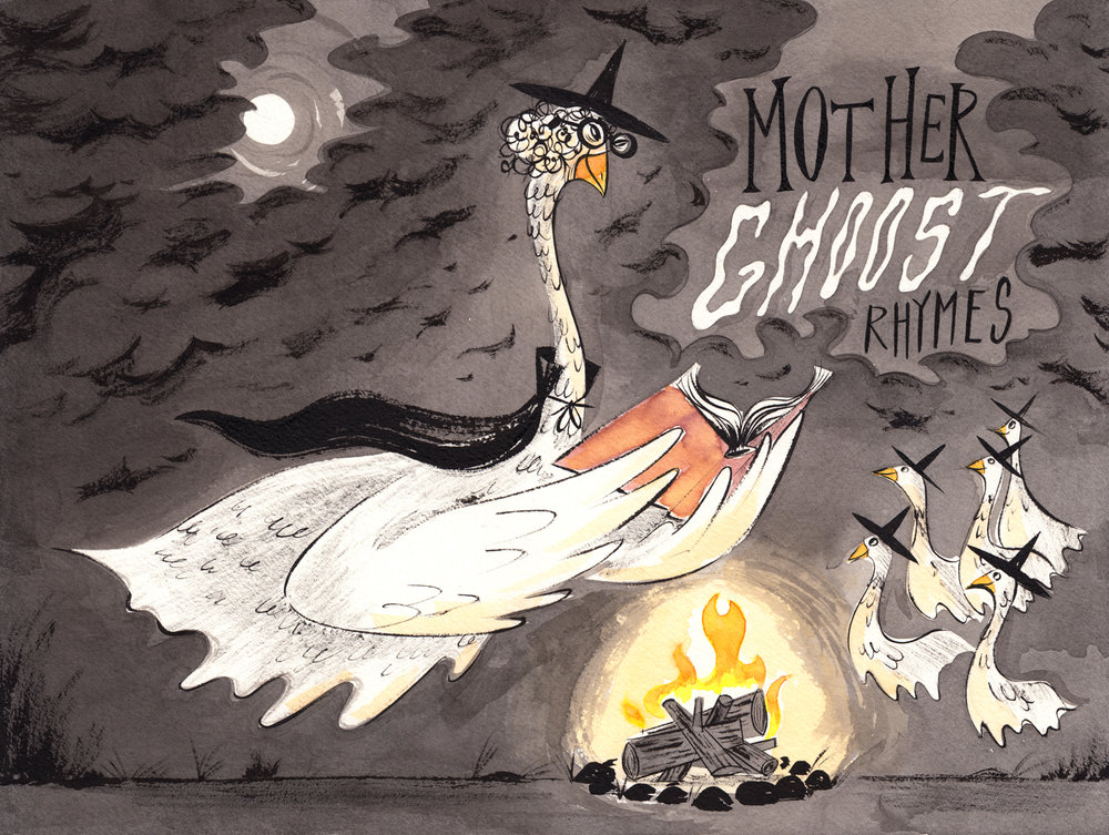 Mother Ghoost Rhymes  A children's book of spooky poems Cover Art
