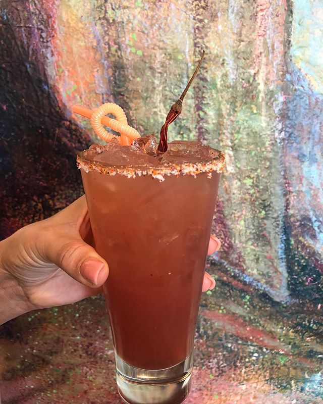 New September Cocktail - Chile Paloma! Los Altos silver tequila, fresh squeezed grapefruit, chile arbol, house grenadine.