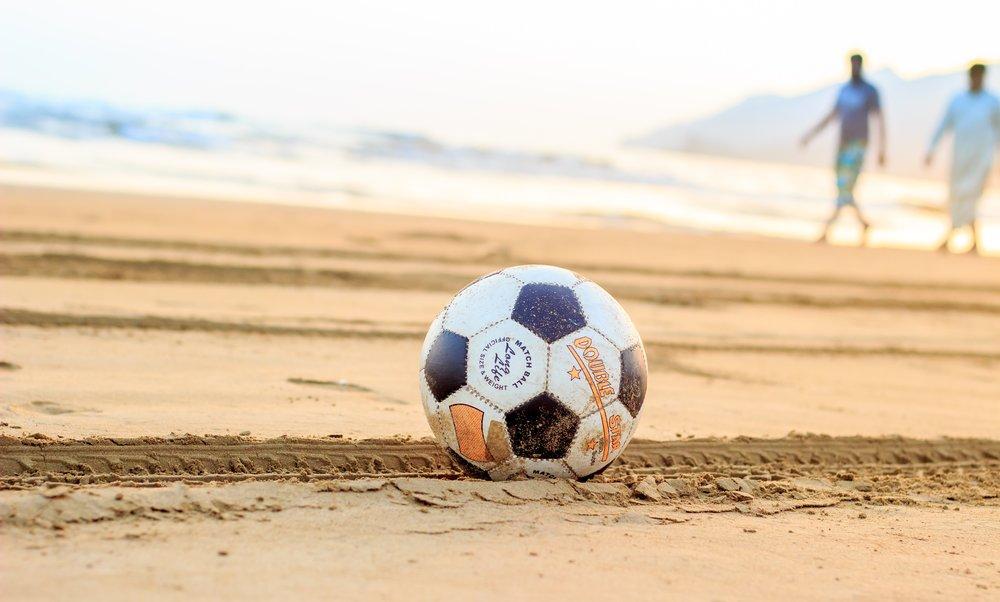 Soccer on the beach in Brazil