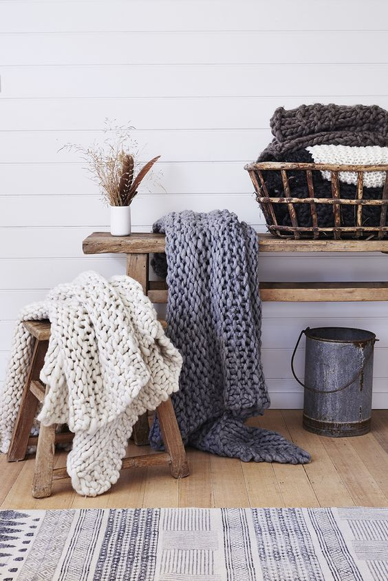 Barefoot Gypsey knitted throws.