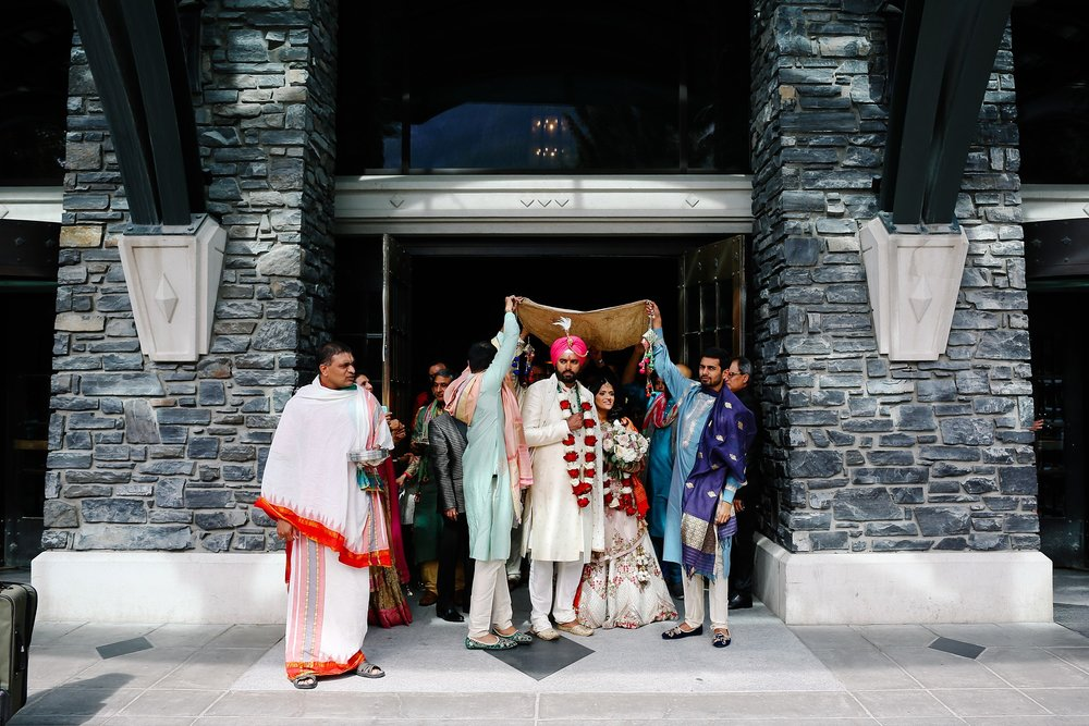 July6.RadCharan3087_Note Photography Photojournalistic Wedding Ben Nelms Documentary Photography Award Winning Rocky Mountain Banff Springs Hotel Fairmont Punjabi Indian Ceremony Baraat.jpg