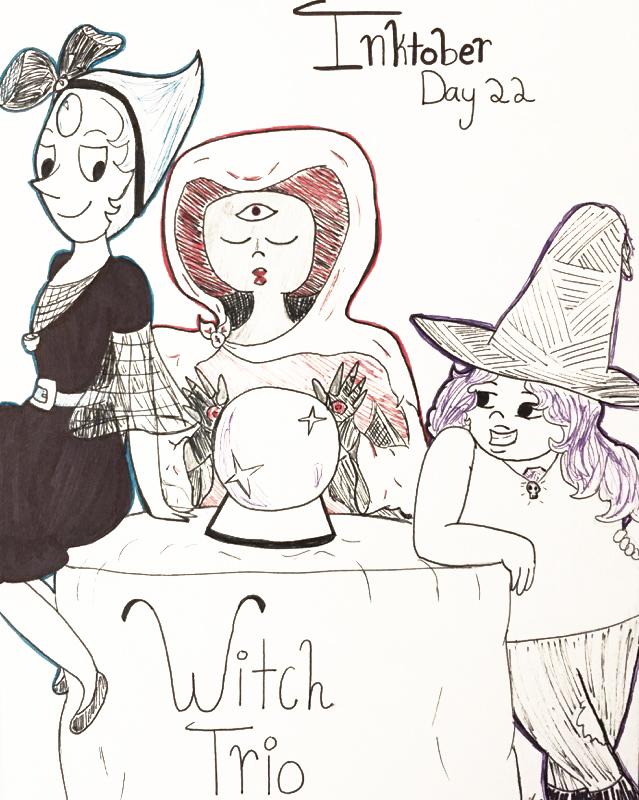 Day 22 // Witch Trio