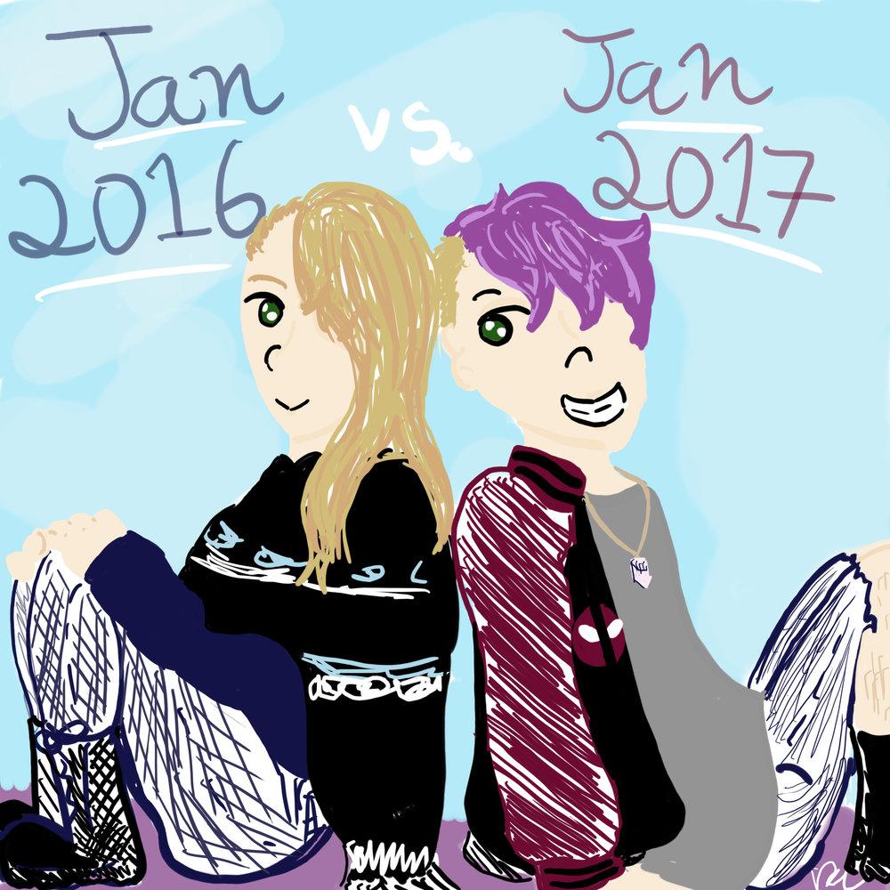Day 4 // Jan. 2016 You vs. Jan. 2017 You