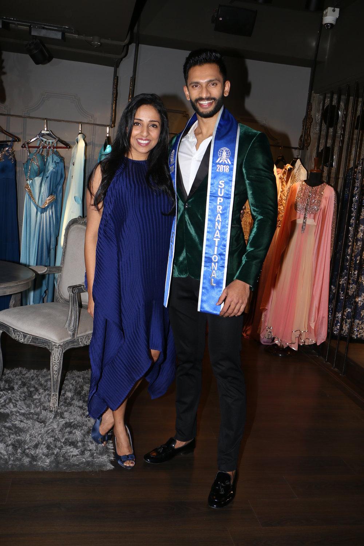 Prathamesh with Nivedita Saboo