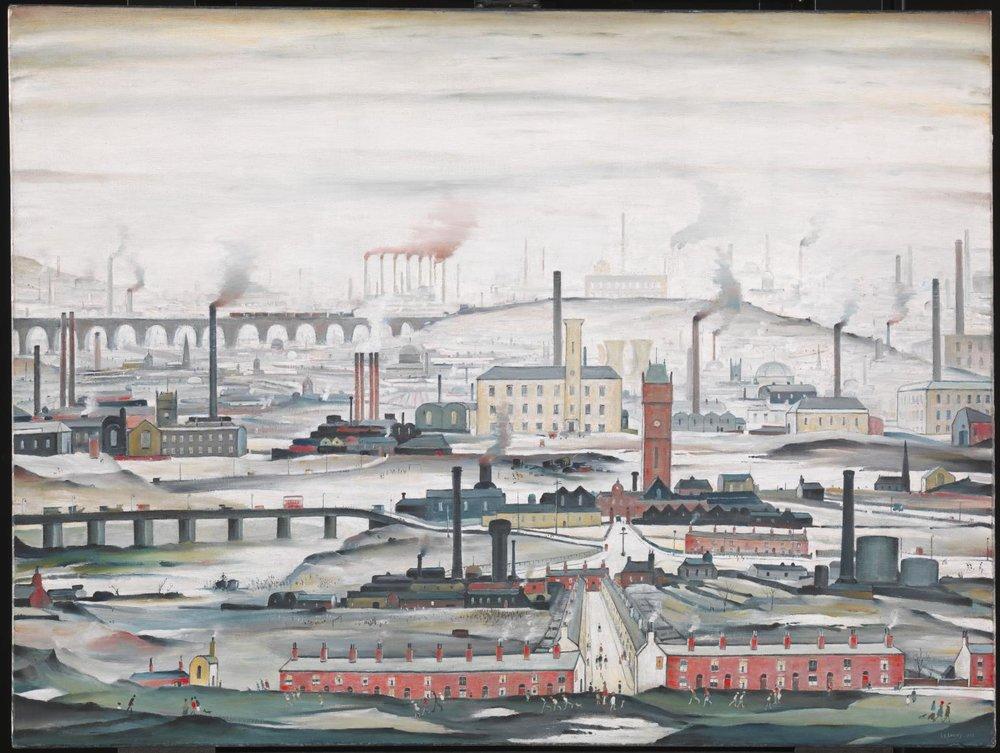 Industrial Landscape, 1955, LS Lowry