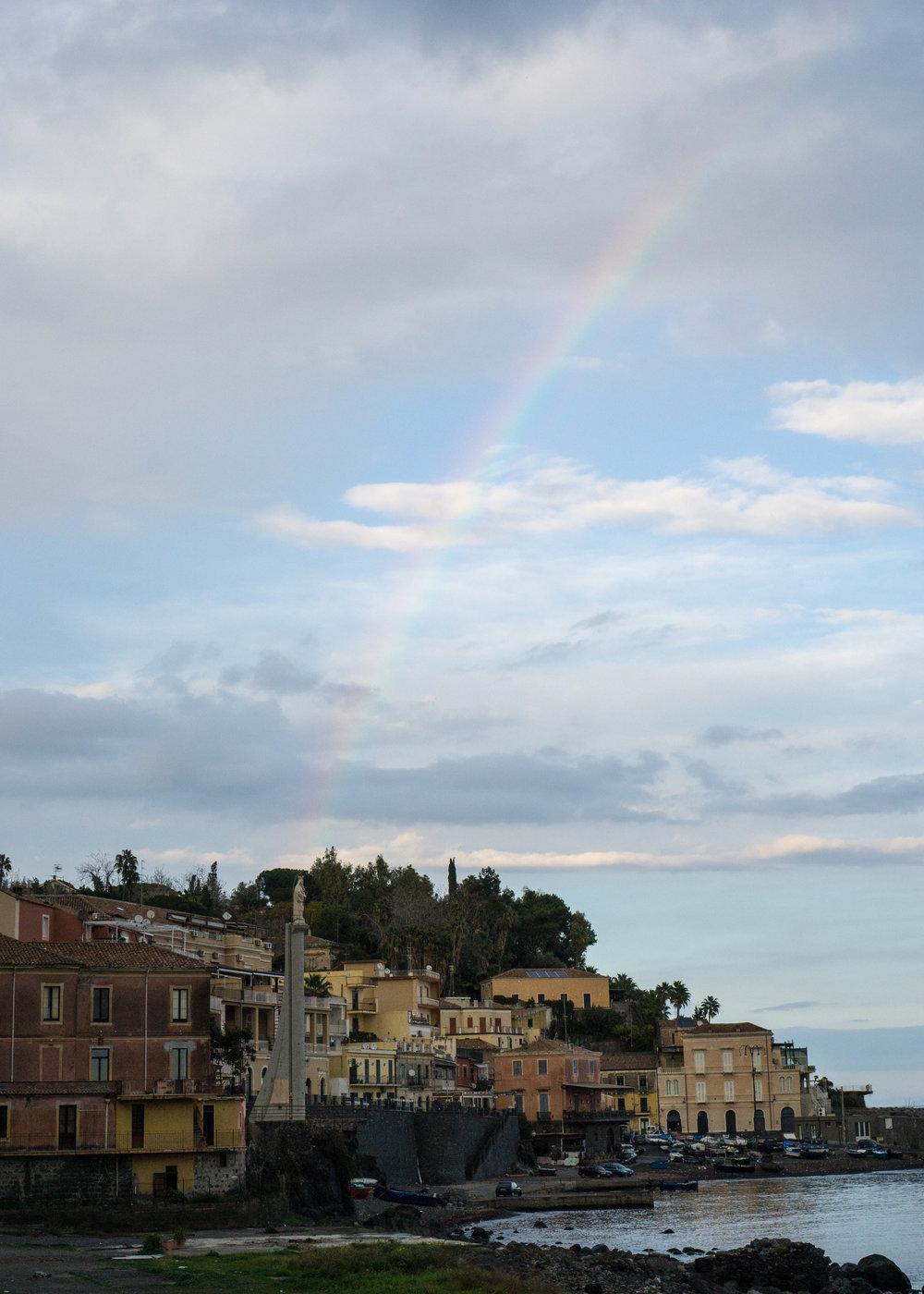 Birthday rainbow, Sicily