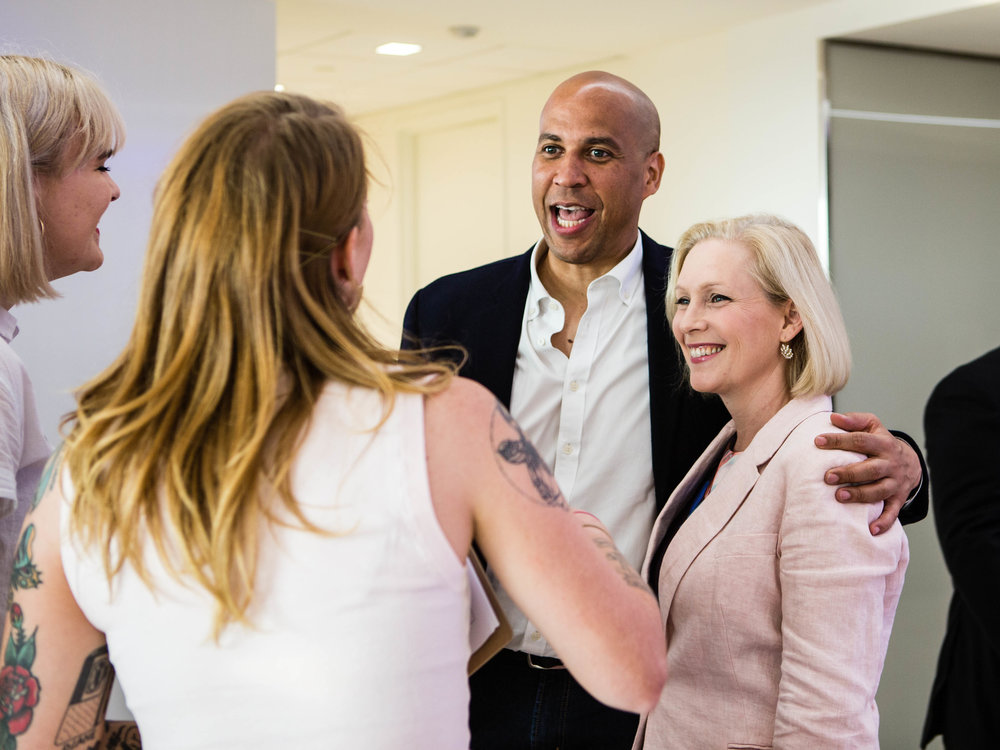 Sens. Booker + Gillibrand, Party for Something, DC
