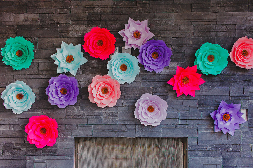 Paper Flower Backdrop by ALAAN STUDIOS