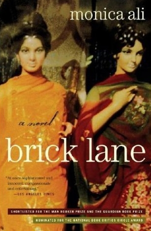 Book cover of Brick Lane by Monica Ali. Review by Allie Cresswell allie-cresswell.com