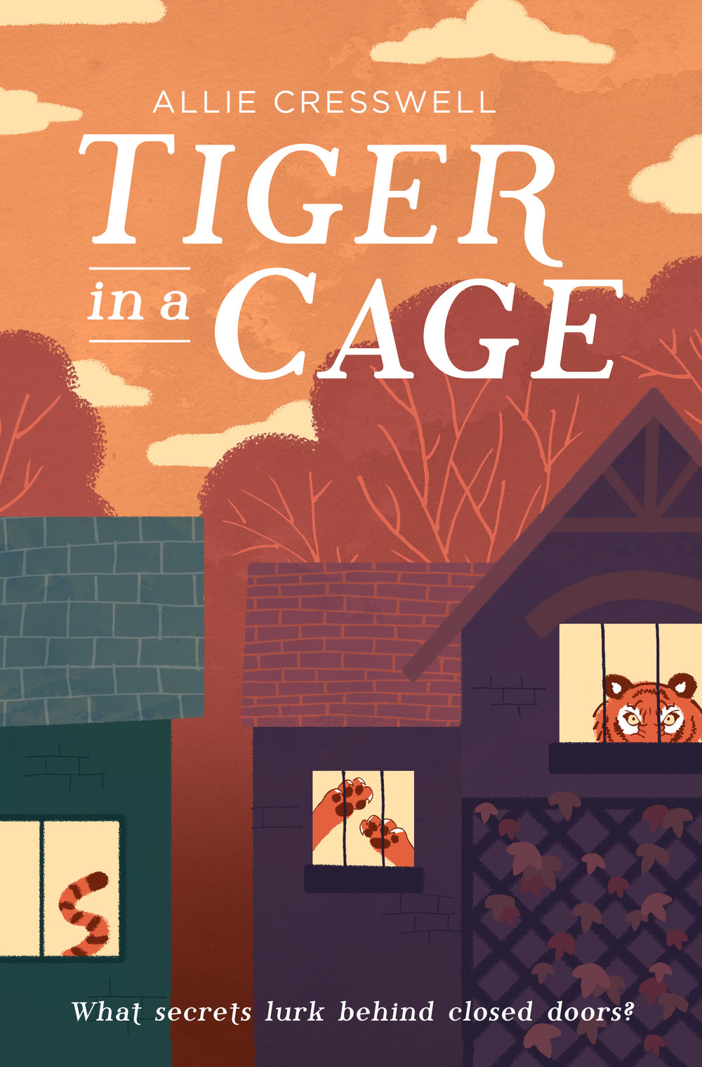 Tiger in a cage by Allie Cresswell allie-cresswell.com