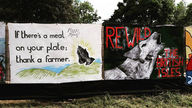 #glastonbury #festival gets beautifully political.... #art #science #food #farming