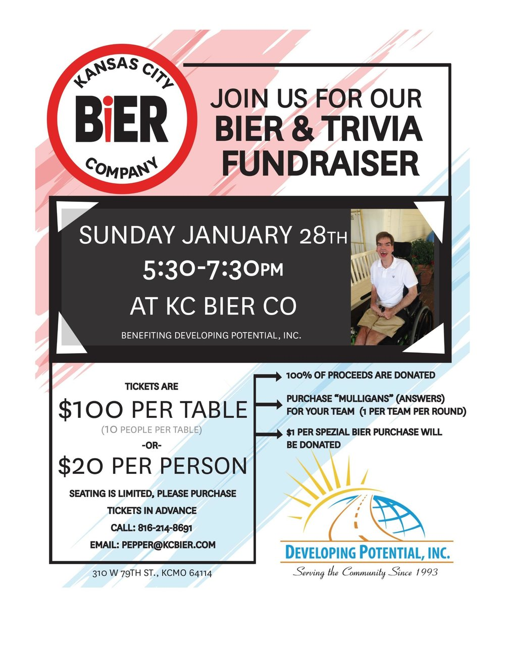 Bier and Trivia Flyer