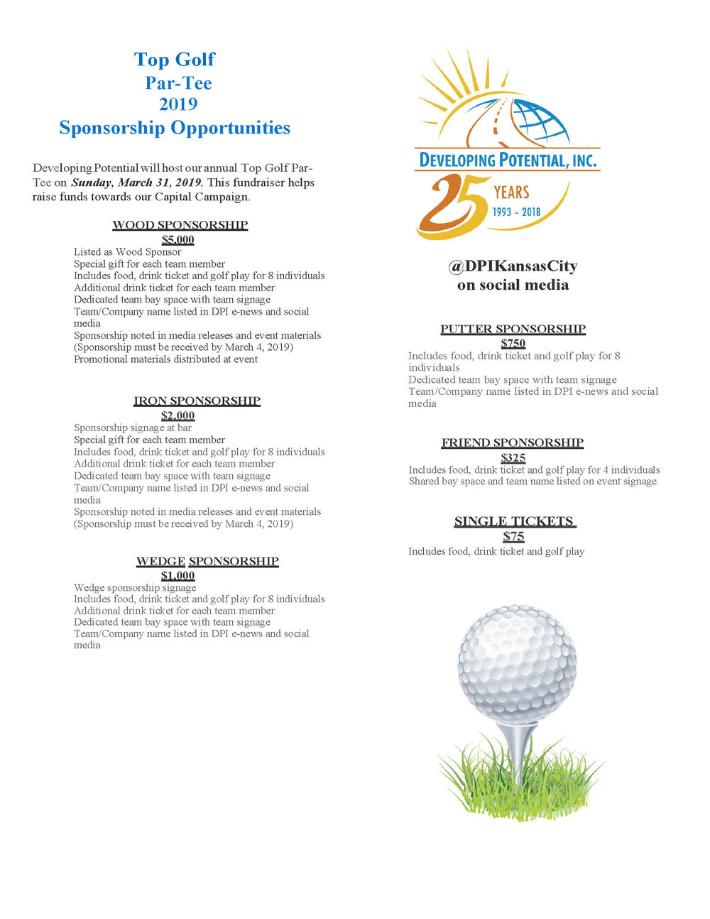 DOWNLOAD SPONSORSHIP OPPORTUNITIES INFORMATION