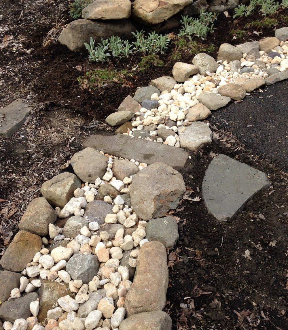 I installed this dry stream-bed myself!