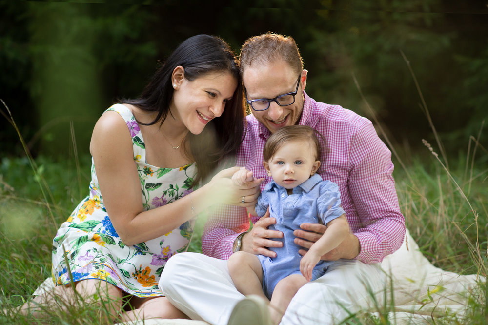 outdoor family photo session in ct