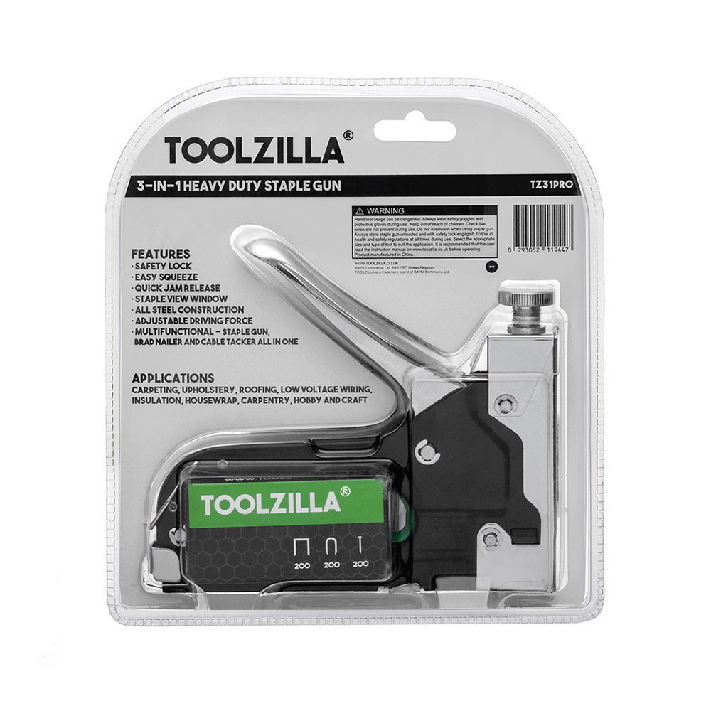 toolzilla tz31pro heavy duty staple gun u0026 600 staple selection pack