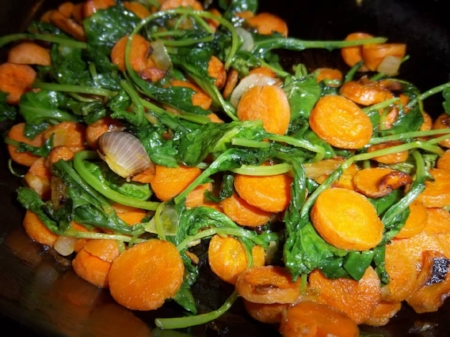 Sauteed Baby Kale & Carrots