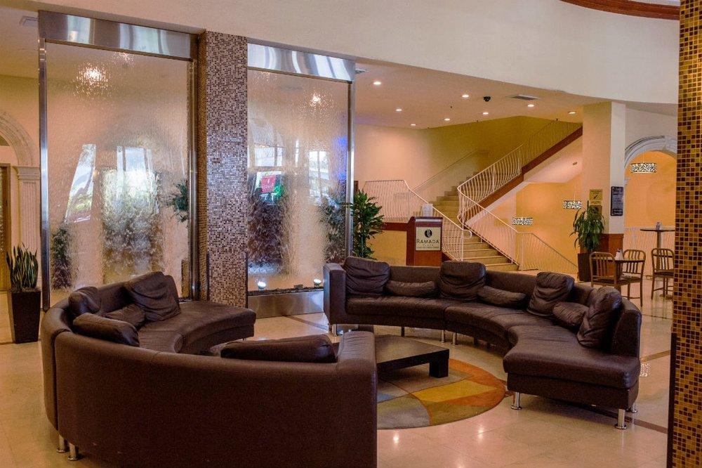 Glass Waterwall Lobby