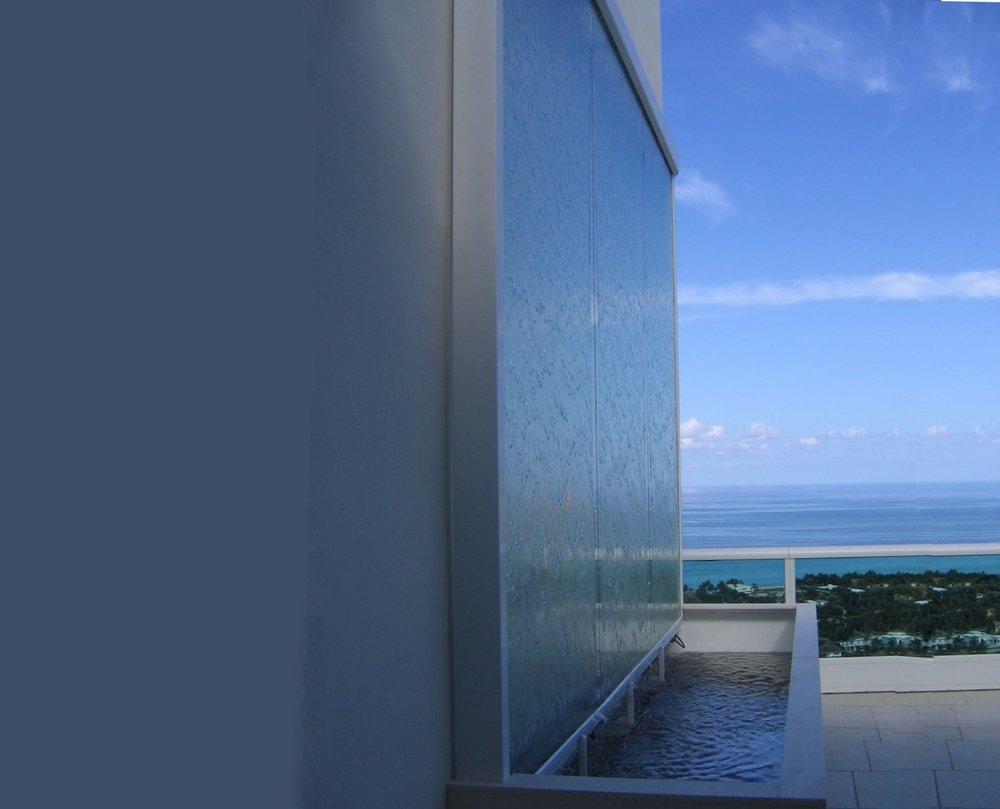 Penthouse Balcony Waterwall