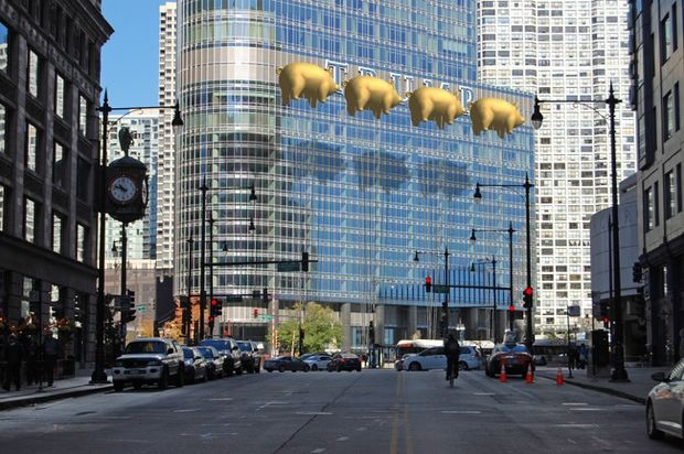 Visual relief proposed in Chicago for the TRUMP name