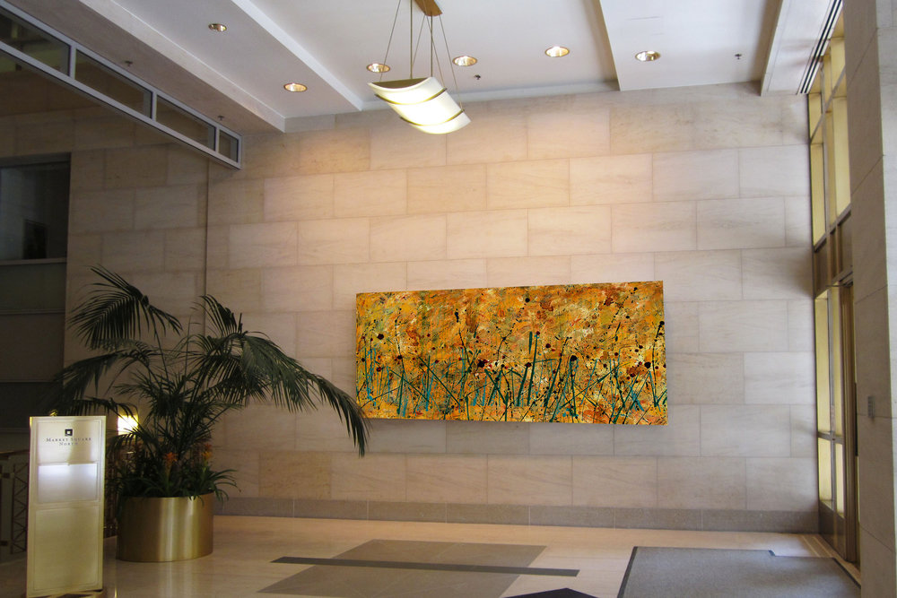 Abstract Landscape with Pantone 15-0343 in lobby.jpg