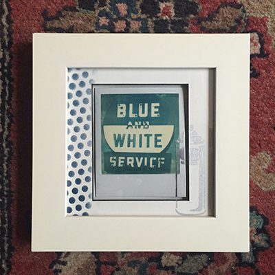Polaroid hand painted framed Blue & white.JPG