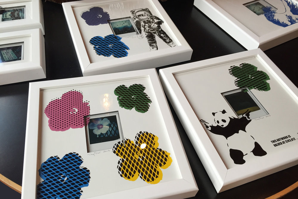 Polaroid & Silkscreen Framed Artworks