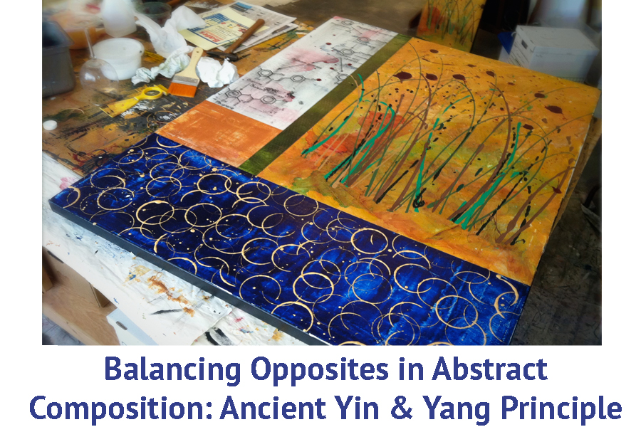 "Artist Workshop ""Balancing Opposites in Abstract Composition: Ancient Yin & Yang Principle"" artist travel workshops"
