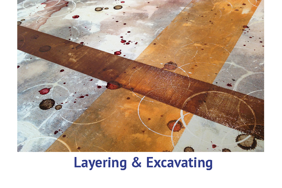Layering and excavation artist travel workshops