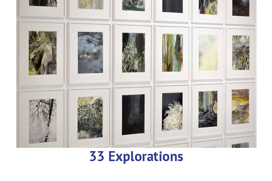 Exploring a series of similar works - create 33 abstract paintings art travel workshop Europe