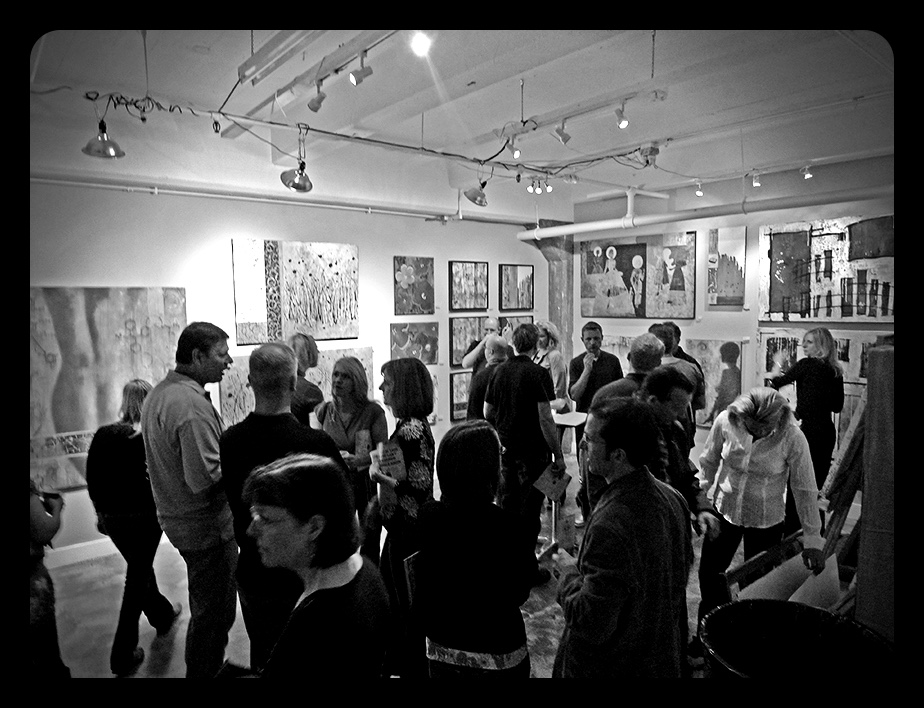 Studio Open House shot 2012 B&W.JPG