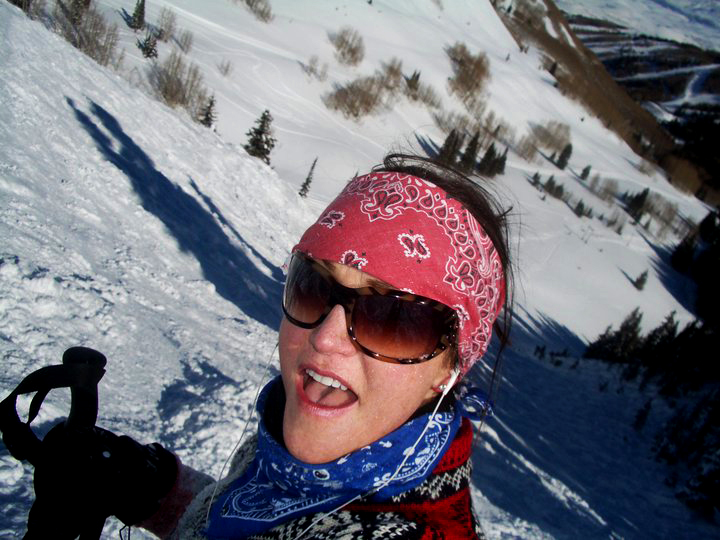 Own The Mountain founder Taylor Smith in Park City Utah Jupiter Bowl Snow Sample Protect our Winters.jpg