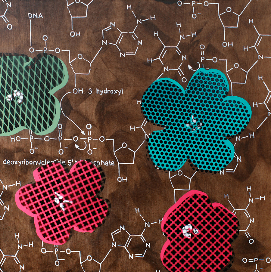 Four Flowers with Chemical DNA