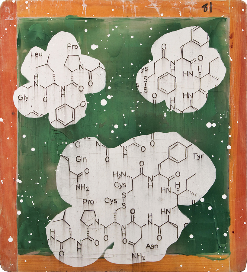 Three Flowers with Oxytocin